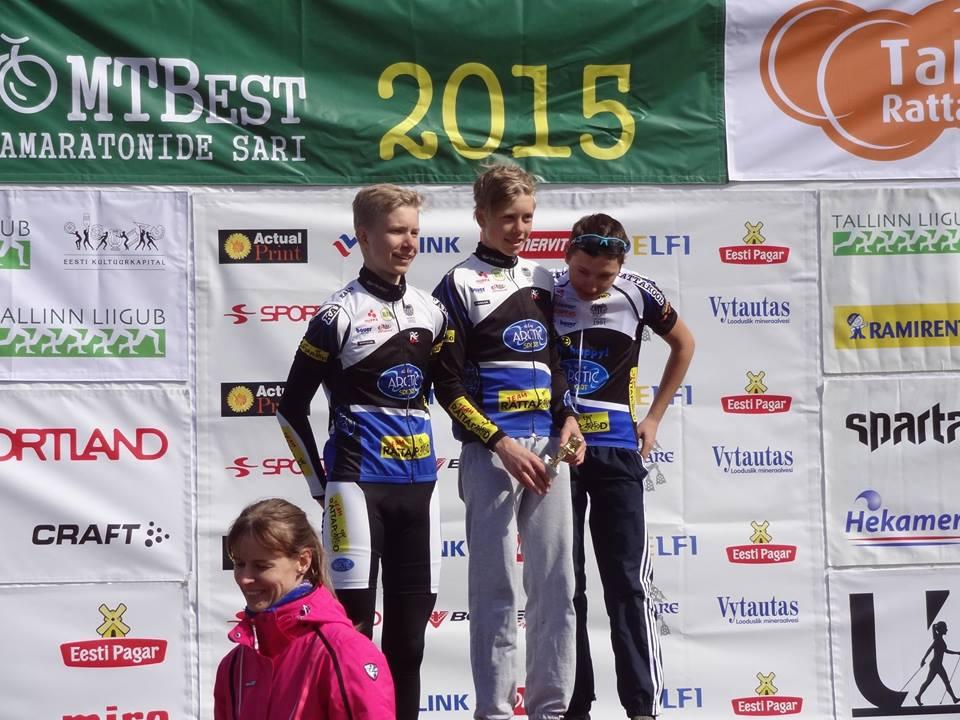 Parim meeskond lühikesel maratonil - KJK/A. Le Coq (Bert Palts, Markus Pajur, Daniel Kozelski)